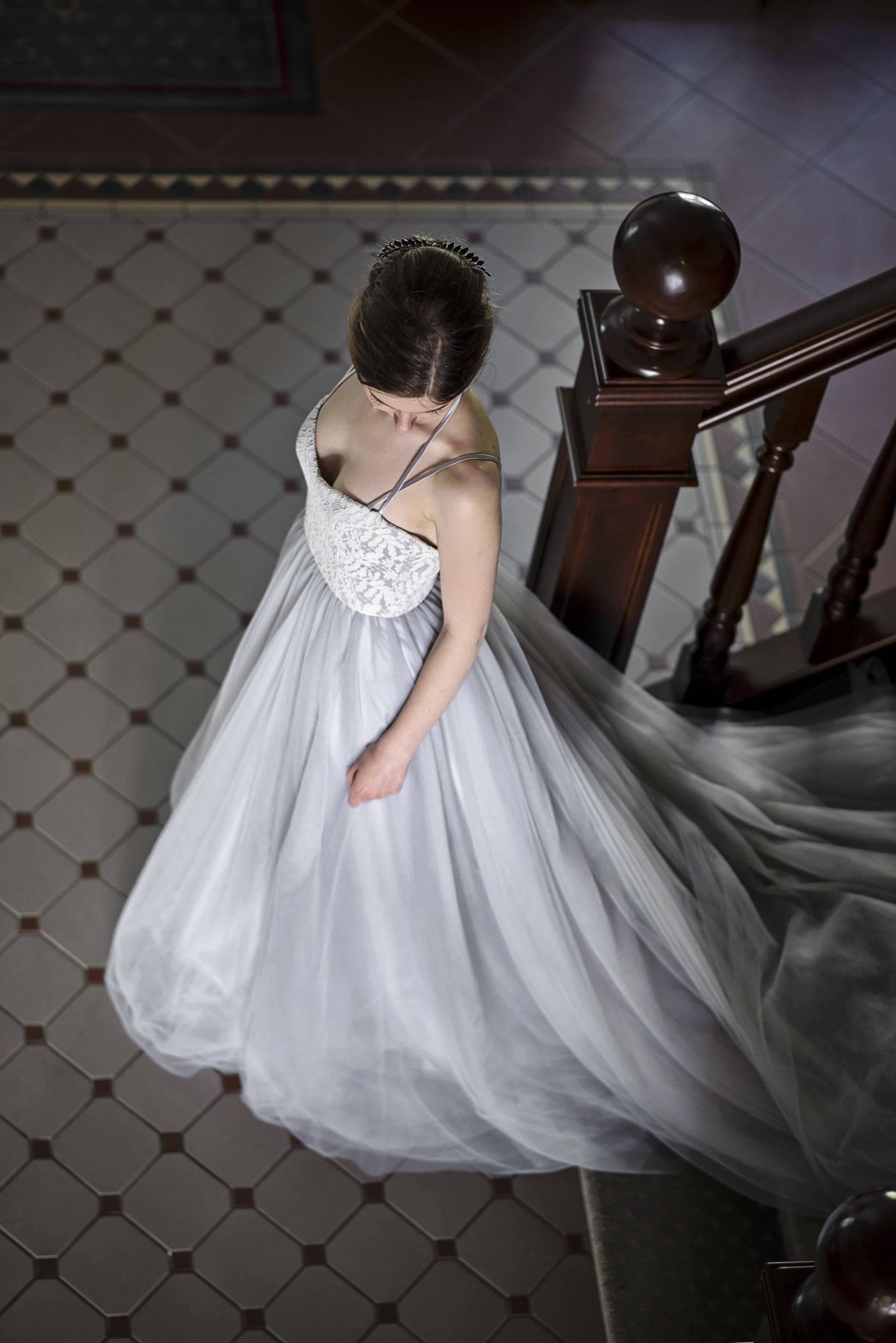 Grau grau Hochzeitskleid alternative Hochzeitskleid