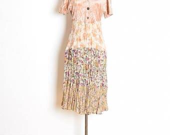 vintage 90s dress, patchwork dress, 90s grunge dress, babydoll dress, crushed velvet dress, 90s floral dress, floral babydoll, 90s clothing