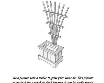 Trellis Planter - Wood Plans - PDF File - Blueprint
