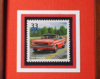 1964 Ford Mustang -  Framed Commemorative Stamp - No. 3188h
