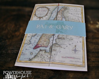 New York Map Invitation or Save the Date