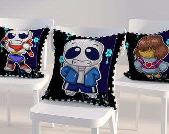 Fan made Undertale gaming anime manga style chibi cushion pillow frisk papyrus sans