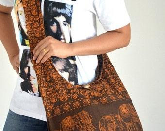 Brick Brown Cotton Bag Handbags Elephant Bag Hippie Hobo Bag Boho Bag Shoulder Bag Sling Bag Messenger Bag Crossbody Purse