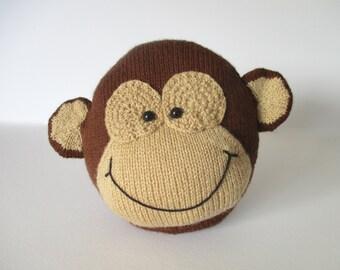 Charlie the Monkey Cushion Knitting Patterns
