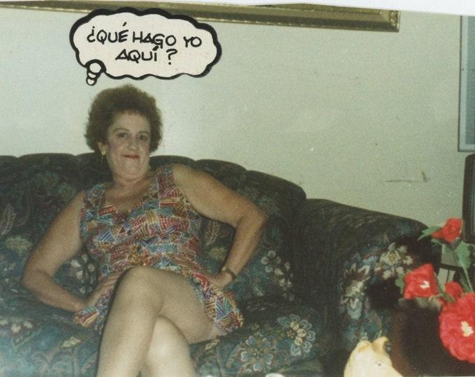 """Vintage Snapshot Photo: Paquita...Que Hago yo Aqui?"""" [86688]"""
