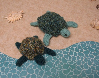 Sea Turtle Stuffed Turtle Plush Turtle Leatherback Turtle Terrapin Crochet Turtle Amigurumi Turtle