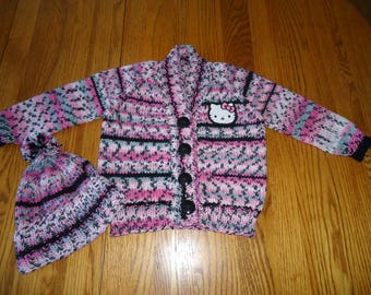 Hello Kitty Cardigan with Hat