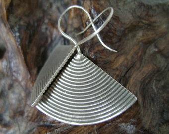 Thai Karen Tribal Silver Earrings - The Big Propeller