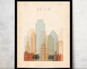 Austin poster | Etsy