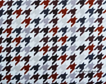 Gray & Brown Houndstooth Fabric, Riley Blake C970-94 Medium Houndstooth, Brown and Gray Houndstooth Fabric, Cotton Quilt Fabric