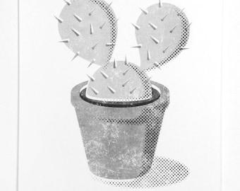 Cactus  - A3 Risograph Print