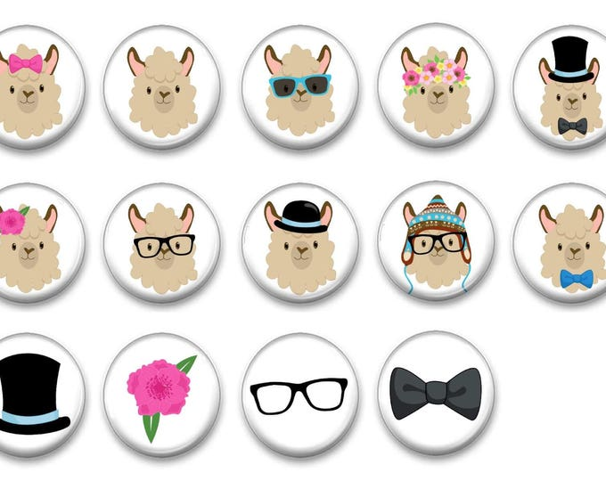 Llama Magnets - Refrigerator Magnets - Alpaca Magnets - Gift Magnets - Magnetic Chalkboard - Party Favors - Alpaca Gifts - llama Decor