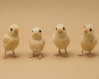 baby chick wool felted handmade bird