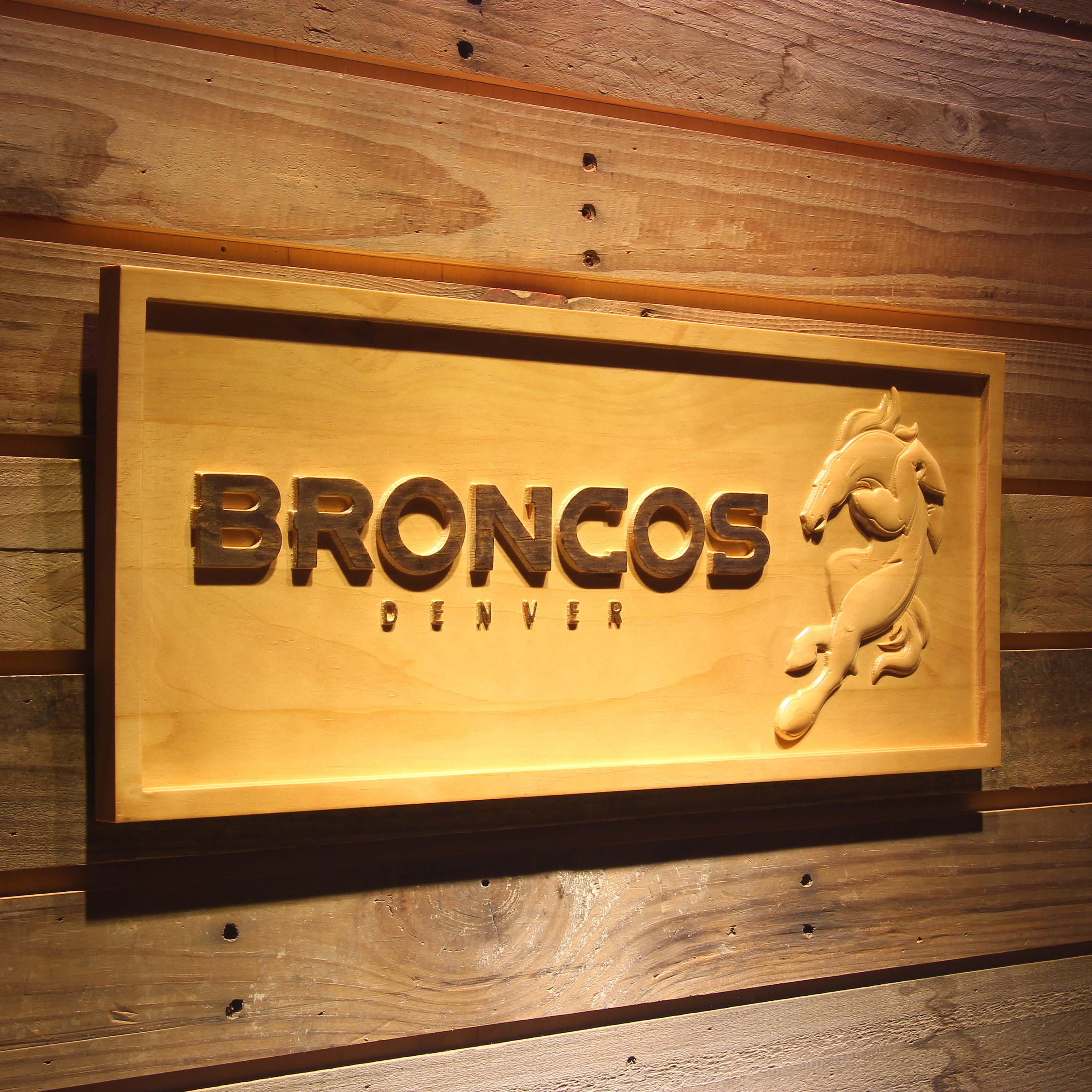Denver Broncos Wood Sign Custom Wooden Sign 3D Sign Home Decor