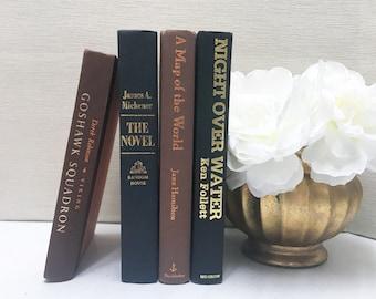 Brown and Black Decorative Books, Shelf Decor
