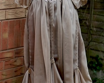7a624e6cec2 Edwardian taupe dress Downton Abbey inspired handmade in England dress Lady  Mary styled Express delivery