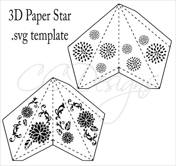 Cute star lantern template photos resume ideas for Paper star cut out template