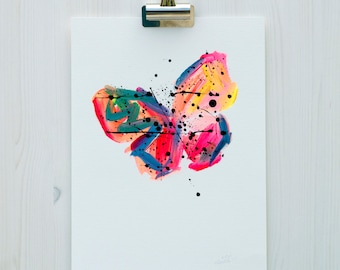 Butterfly Painting // Limited Edition 6 of 50 // Original Painting // Abstract Art // Abstract Painting // Home Decor // Wall Art