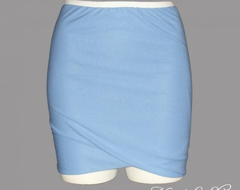 Draped skirt, lavender blue (custom)