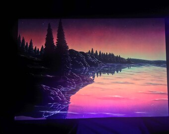 Glow in the Dark painting - Landscape