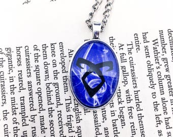 Angelic Rune Necklace - The Mortal Instruments - Cassandra Clare - rune necklace - enkeli rune - jace and clary - city of bones necklace