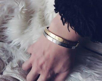 Stainless bracelets Steel ,latinics Numbers.