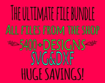 Sale Bundle Allfiles bundle SVG Files Cutting Monogram Cricut Designs Fonts - SVG Files for Silhouette - Instant Download Dxf bundle file