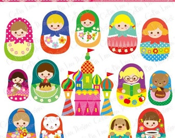 Matryoshka doll , Russian dolls , Matryoshka Digital Clip Art