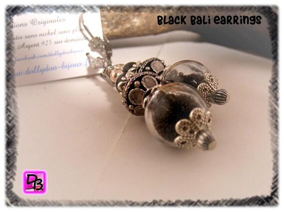 Boucles d'oreilles [Black Bali]