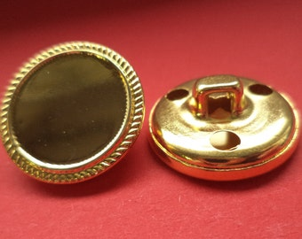 20 mm (1642) metal button jacket buttons buttons 8 METAL BUTTONS gold