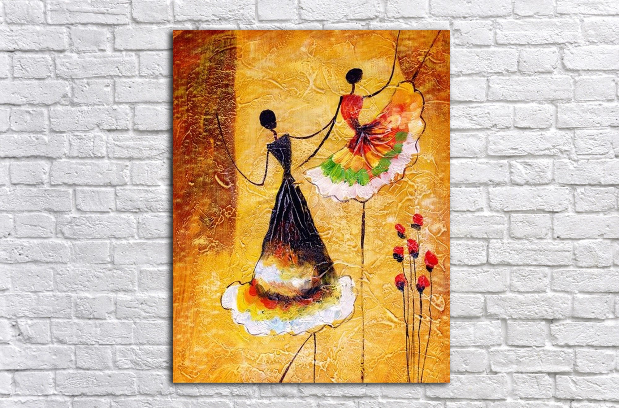 Dance Wall Art Art Print on Canvas Colorful painting