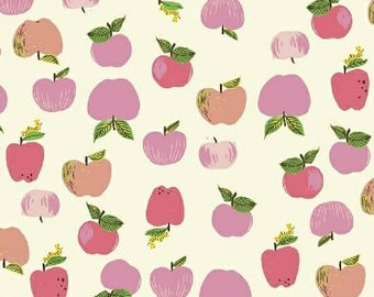 Apples in pink from the Kinder fabric collection by Heather Ross for Windham fabrics