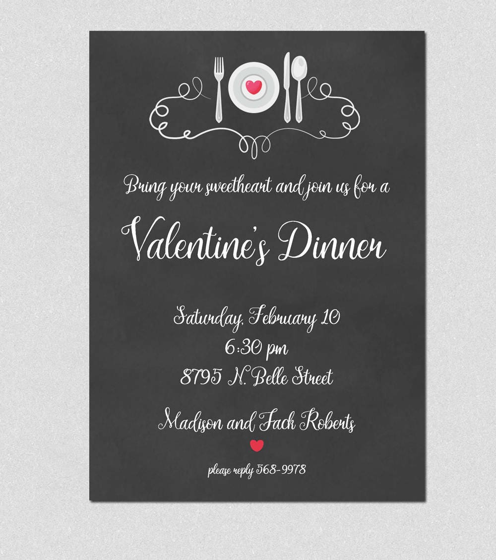 Printable Valentine\'s Invitation Printable Valentine