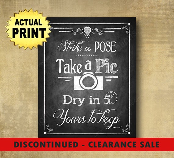 CLEARANCE Wedding Photo booth sign, Instant pics wedding sign, wedding instant pics, wedding pictures, rustic wedding signs, wedding print