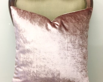 Luxury Blush Pink Velvet Throw Pillow, Pink Pillows, Velvet Pillow, Pillow Cover, Decorative Pillow, Cushion, Pink Velvet Pillow Case Covers