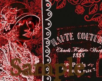 Vintage Style Print 1920s Paris.