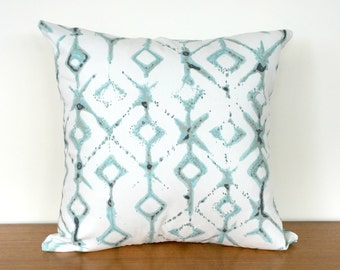 Tribal Print Cushion Cover - Aqua