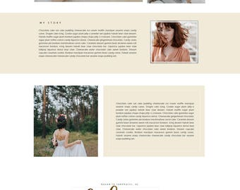 Photography Wix Website Template | Photographer | Portfolio | Customizable Logo