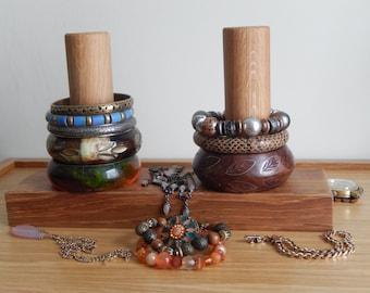 Jewellery Organiser, Oak, Bracelet Holder, Handmade, Watch Stand, Gift for Her, Gift for Him, Personalised Gift, Mothers Day Gift, Gift,