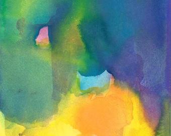 Art Print, Watercolor Painting, Gratitude