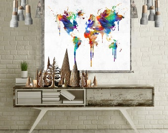 Elephant wall tapestry abstract canvas art abstract canvas world map tapestry wall hanging world map canvas world map wall art world map poster world gumiabroncs Images