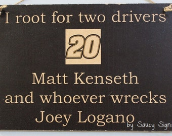 Matt Kenseth wrecks Joey Logano Racing Drivers Sign