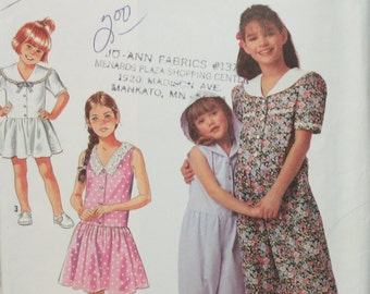 Simplicity 7350 Girls Romper and Dress Sewing Pattern Size 3-4-5-6