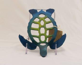 Blue/Green Medium Turtle Trivet / Wall hanging
