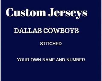 Stitched Dallas Cowboys Fan Jersey. Can have Your Own Name And Number