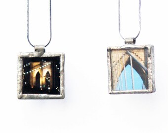 PENDANT - Brooklyn Bridge - Night and Day - NYC