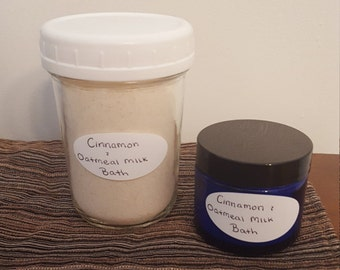Cinnamon Oatmeal Milk Bath Powder