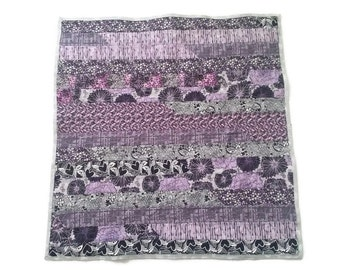 Purple Modern Baby Quilt Ready to Ship