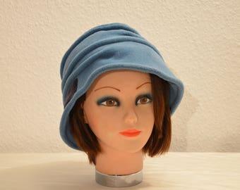 Turquoise fleece Hat