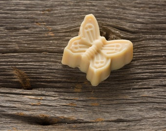 Organic Goat Milk Soap in the shape of a butterfly